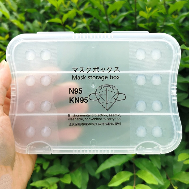 KN95 Mask Box Holder Storage Portable Antibacterial Box