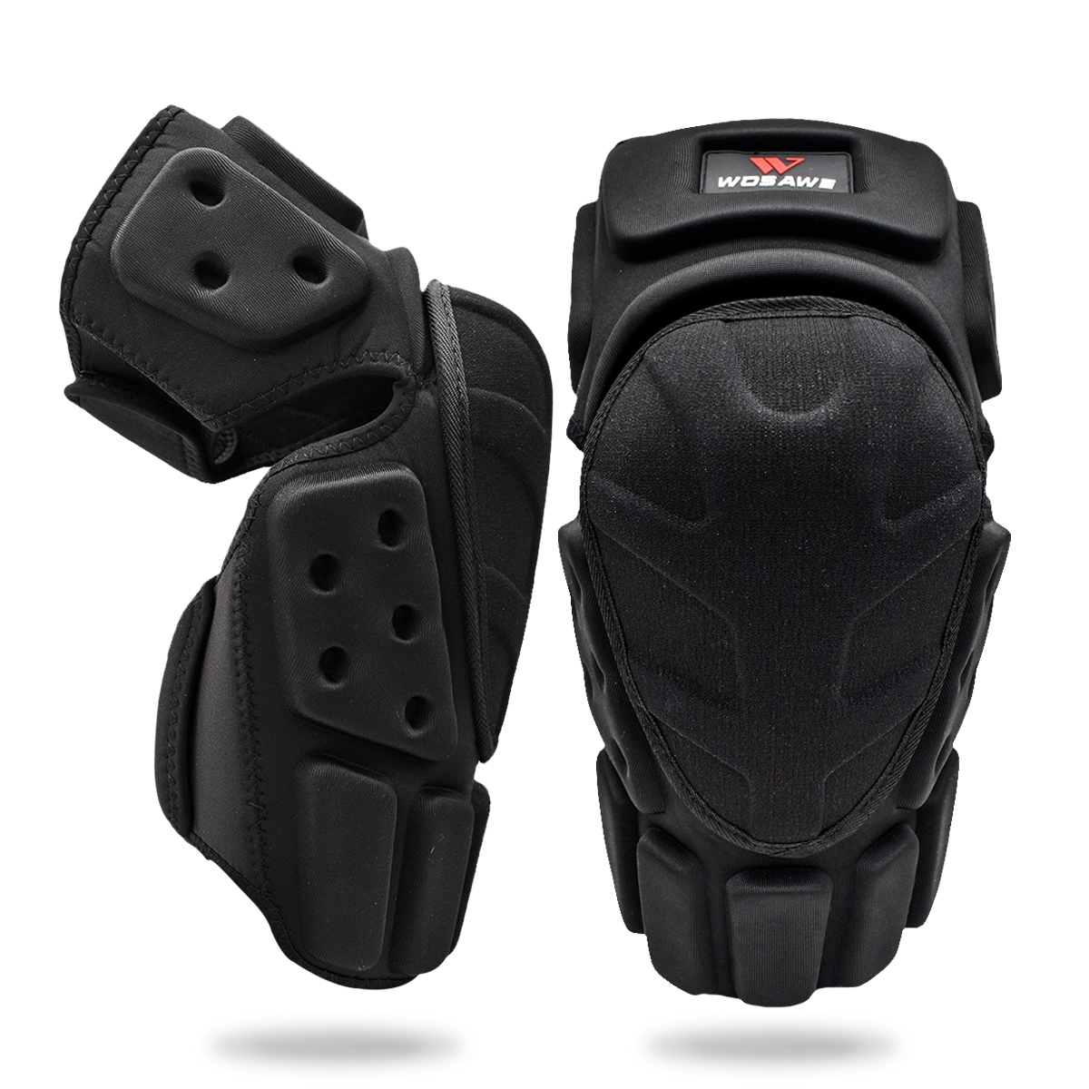 WOSAWE Adjustable Knee Protector Motorcycle Motocross Riding Cycling Skating Ski Knee Pads Kneepads Black Brace Support