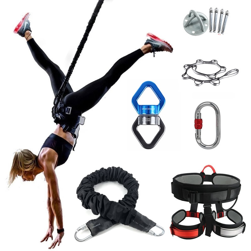 Bungee Dance Flying Suspension Rope Aerial Gravity Yoga Cord Resistance Band Gym